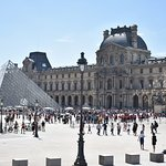 View of The Louvre from The Big Bus