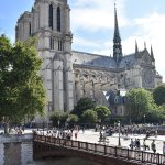 View of Notre Dame from The Big Bus