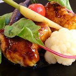 Nage de Lotte sauce Yakitori et petits légumes