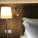 The hotel rooms have modern electric capabilities. There are four usb connectors for powering de