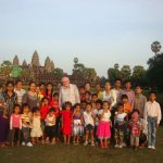 With a donor who has supported some poor children in Cambodia
