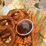 The trio - sweet potato fries is the best