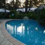 Pool area great for summer but not heated for winter