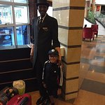 Stanley, the friendly porter at the Boma with my son!