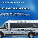 Luxury shuttle service available