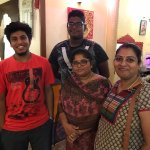 With the owner Chitra n her son