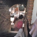 Looking into one of the many dininr rooms.