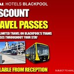 Travel passes available from reception