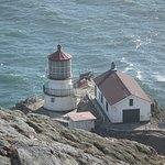 Coastal lighthouse nearby