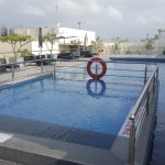 Gym and rooftop pool