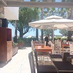 restaurant has 3 zones - garden part, inside part with air conditioning and sea view zone