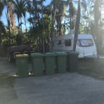 Mmm, the tropical aroma of not 1 but 5 rubbish bins!