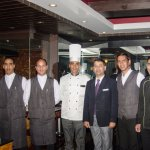 F&B manager with chef and the team