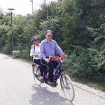 One of the many tandem bikes that were available