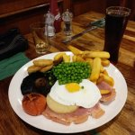 Gammon with egg topping