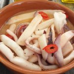 Squid with chilli, but not enough chilli
