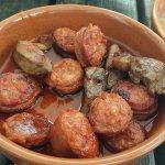 Something meaty and chorizo