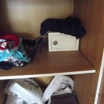 safe in wardrobe