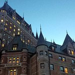 Le Chateau Frontenac at night from the boardwalk