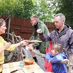 Tasters of Iron Age inspired cooking at our special event Iron Age Gourmet Day