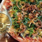 We offer dishes for many special diets - here is Pizza Verdura, one of two vegan pizza choices.