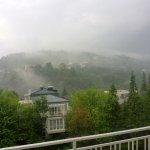 Ausblick bei Regen, trotzdem gemütlich