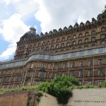 The iconic Grand Hotel building - looking up from the sea front