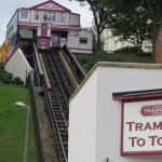 The tramway up to the town centre - next to the Grand Hotel