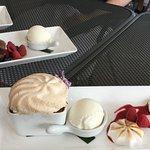 Dessert - Bread pudding with meringue