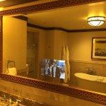 Suite TV in bathroom mirror