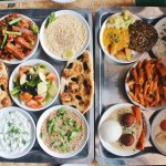 Mezze, Potpourri and chickpeas salad, ordered these many times