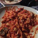 Tagliatelle with meatballs... So Tasty!