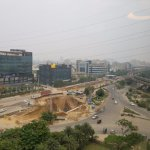 view is not the best, but Gurgaon is still in construction all around