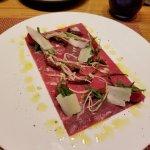 carpaccio in the italian restaurant