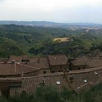 View of Tuscany over the rooftops of Chiusura
