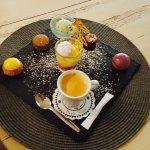 Filet de canette au melon Charentais et poivre de timut Café gourmand
