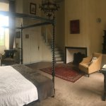 Wonderful four poster bed, room flooded with light