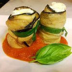 Special: eggplant stuffed with sheep's milk ricotta & whipped Hudson Valley Goat cheese.