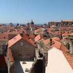 Dubrovnik rooftops from the wall