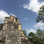 Mayan ruins in the jungle