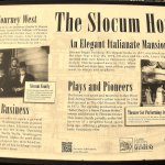 Plaque about the Slocum House