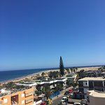View from terrace - can see the Maspalomas Dunes