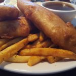 Fish and Chips, with a side of gravy