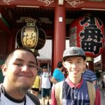 In the front gate of the Sensoji Temple. Quite crowded but a very compelling experience indeed