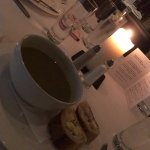 starter -three course meal - soup and crusty baguette