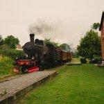 the old steam train outside Ravlunda