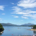A stunning view from A cafe at Loch Lomond Shores