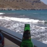 Norma's village pool,and the view from Domus beach bar
