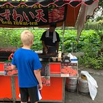 crab leg stand near Bentendo temple