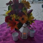 Flowers from our beachside dinner